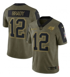 Men's Tampa Bay Buccaneers Tom Brady Nike Olive 2021 Salute To Service Limited Player Jersey