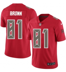 Nike Tampa Bay Buccaneers 81 Antonio Brown Red Men Stitched NFL Limited Rush Jersey