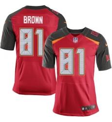 Nike Tampa Bay Buccaneers 81 Antonio Brown Red Team Color Men Stitched NFL Vapor Untouchable Elite Jersey
