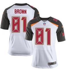 Nike Tampa Bay Buccaneers 81 Antonio Brown White Men Stitched NFL New Elite Jersey