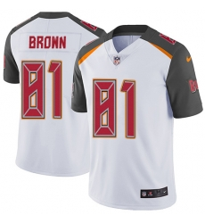 Nike Tampa Bay Buccaneers 81 Antonio Brown White Men Stitched NFL Vapor Untouchable Limited Jersey