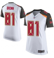 Women Nike Tampa Bay Buccaneers 81 Antonio Brown White Women Stitched NFL New Elite Jersey