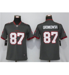 Women Nike Tampa Bay Buccaneers 87 Gray Women New 2020 Vapor Untouchable Limited Jersey
