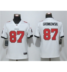Women Nike Tampa Bay Buccaneers 87 Rob Gronkowski White New 2020 Vapor Untouchable Limited Jersey