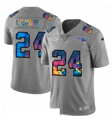 Men New England Patriots 24 Stephon Gilmore Men Nike Multi Color 2020 NFL Crucial Catch NFL Jersey Greyheather