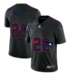 New England Patriots 26 Sony Michel Men Nike Team Logo Dual Overlap Limited NFL Jersey Black