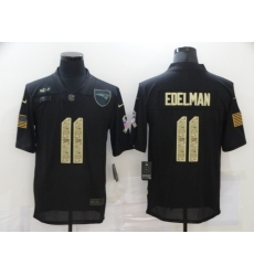 Nike New England Patriots 11 Julian Edelman Black Camo 2020 Salute To Service Limited Jersey