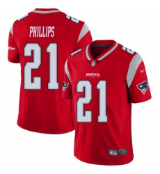 Nike New England Patriots 21 Adrian Phillips Red Men Stitched NFL Limited Inverted Legend Jersey