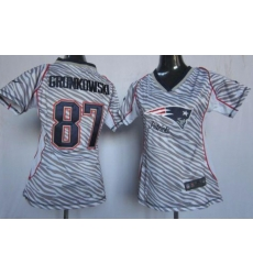 Women New England Patriots Rob Gronkowski Zebra limited Jersey