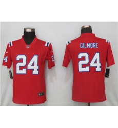 Women New Nike New England Patriots 24 Stephon Gilmore Red Jersey