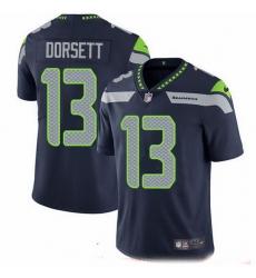 Nike Seahawks 13 Phillip Dorsett Steel Blue Team Color Men Stitched NFL Vapor Untouchable Limited Jersey