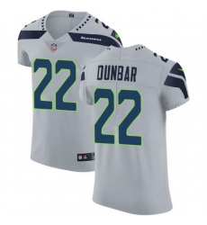 Nike Seahawks 22 Quinton Dunbar Grey Alternate Men Stitched NFL New Elite Jersey