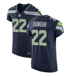 Nike Seahawks 22 Quinton Dunbar Steel Blue Team Color Men Stitched NFL Vapor Untouchable Elite Jersey