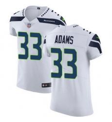Nike Seahawks 33 Jamal Adams White Men Stitched NFL New Elite Jersey