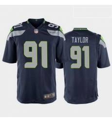 men darrell taylor seattle seahawks college navy game jersey