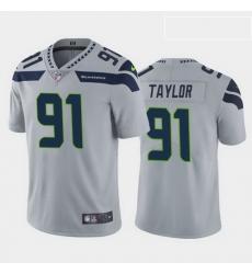 men darrell taylor seattle seahawks gray vapor limited jersey
