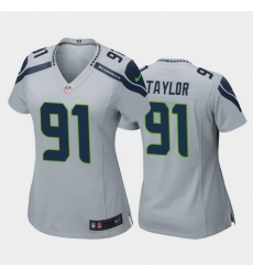 women darrell taylor seattle seahawks gray game jersey