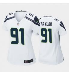 women darrell taylor seattle seahawks white game jersey