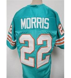 Men Mercury Morris Miami Dolphins Throwback Football Jersey