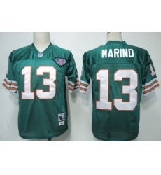 Men Miami Dolphins #13 Dan Marino Green 75TH Throwback Jersey