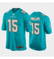 Men Miami Dolphins Jaelan Phillips Aqua 2021 Draft Jersey