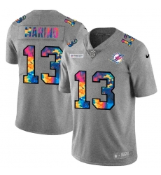 Miami Dolphins 13 Dan Marino Men Nike Multi Color 2020 NFL Crucial Catch NFL Jersey Greyheather
