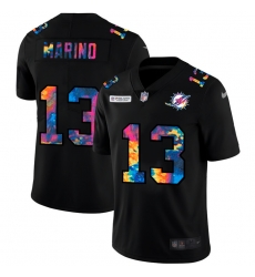 Miami Dolphins 13 Dan Marino Men Nike Multi Color Black 2020 NFL Crucial Catch Vapor Untouchable Limited Jersey