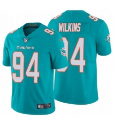 Nike Dolphins 94 Christian Wilkins Aqua Vapor Untouchable Limited Jersey