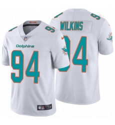 Nike Dolphins 94 Christian Wilkins White Vapor Untouchable Limited Jersey