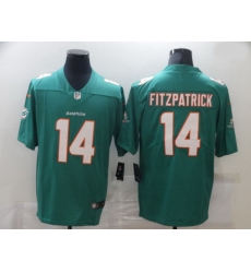 Nike Miami Dolphins 14 Ryan Fitzpatrick Aqua Vapor Untouchable Limited Jersey