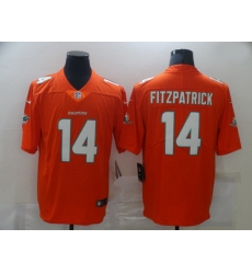 Nike Miami Dolphins 14 Ryan Fitzpatrick Orange Vapor Untouchable Limited Jersey