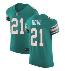 Nike Miami Dolphins 21 Eric Rowe Aqua Green Alternate Men Stitched NFL New Elite Jersey