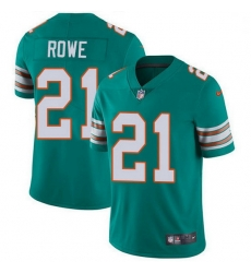 Nike Miami Dolphins 21 Eric Rowe Aqua Green Alternate Men Stitched NFL Vapor Untouchable Limited Jersey