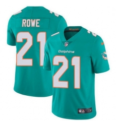 Nike Miami Dolphins 21 Eric Rowe Aqua Green Team Color Men Stitched NFL Vapor Untouchable Limited Jersey