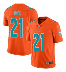 Nike Miami Dolphins 21 Eric Rowe Orange Men Stitched NFL Limited Inverted Legend Jersey
