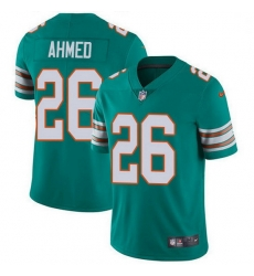 Nike Miami Dolphins 26 Salvon Ahmed Aqua Green Alternate Men Stitched NFL Vapor Untouchable Limited Jersey