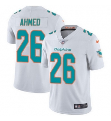 Nike Miami Dolphins 26 Salvon Ahmed White Men Stitched NFL Vapor Untouchable Limited Jersey