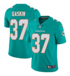 Nike Miami Dolphins 37 Myles Gaskin Aqua Green Team Color Men Stitched NFL Vapor Untouchable Limited Jersey