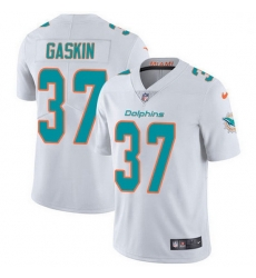 Nike Miami Dolphins 37 Myles Gaskin White Men Stitched NFL Vapor Untouchable Limited Jersey