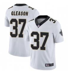 Men New Orleans Saints 37 Steve Gleason White Vapor Limited Jersey