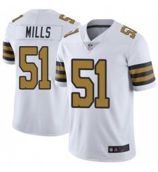Men New Orleans Saints 51 Sam Mills Color Rush Limited Jersey