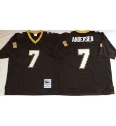 Men New Orleans Saints 7 Morten Anderson Black M&N Throwback Jersey