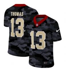 New Orleans Saints 13 Michael Thomas Men Nike 2020 Black CAMO Vapor Untouchable Limited Stitched NFL Jersey