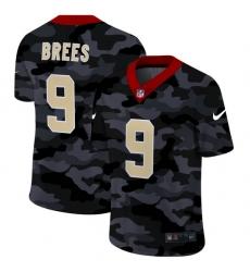 New Orleans Saints 9 Drew Brees Men Nike 2020 Black CAMO Vapor Untouchable Limited Stitched NFL Jersey