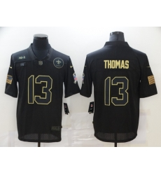 Nike New Orleans Saints 13 Michael Thomas Black 2020 Salute To Service Limited Jersey