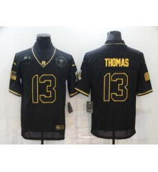 Nike New Orleans Saints 13 Michael Thomas Black Gold 2020 Salute To Service Limited Jersey
