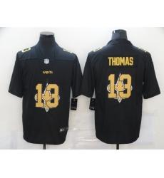 Nike New Orleans Saints 13 Michael Thomas Black Shadow Logo Limited Jersey