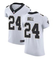 Nike New Orleans Saints 24 Vonn Bell White Men Stitched NFL Vapor Untouchable Elite Jersey