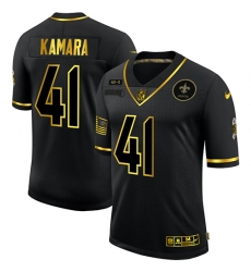 Nike New Orleans Saints 41 Alvin Kamara Black Gold 2020 Salute To Service Limited Jersey