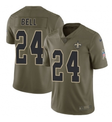 Nike Saints #24 Vonn Bell Olive Mens Stitched NFL Limited 2017 Salute To Service Jersey